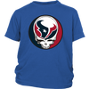 NFL - Houston Texans Grateful Dead Steal Your Face Football NFL Shirts-T-shirt-District Youth Shirt-Royal Blue-XS-Itees Global