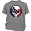 NFL - Houston Texans Grateful Dead Steal Your Face Football NFL Shirts-T-shirt-District Youth Shirt-Sport Grey-XS-Itees Global