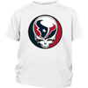 NFL - Houston Texans Grateful Dead Steal Your Face Football NFL Shirts-T-shirt-District Youth Shirt-White-XS-Itees Global