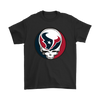 NFL - Houston Texans Grateful Dead Steal Your Face Football NFL Shirts-T-shirt-Gildan Mens T-Shirt-Black-S-Itees Global