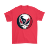 NFL - Houston Texans Grateful Dead Steal Your Face Football NFL Shirts-T-shirt-Gildan Mens T-Shirt-Red-S-Itees Global