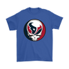 NFL - Houston Texans Grateful Dead Steal Your Face Football NFL Shirts-T-shirt-Gildan Mens T-Shirt-Royal Blue-S-Itees Global