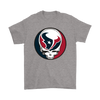 NFL - Houston Texans Grateful Dead Steal Your Face Football NFL Shirts-T-shirt-Gildan Mens T-Shirt-Sport Grey-S-Itees Global