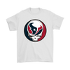 NFL - Houston Texans Grateful Dead Steal Your Face Football NFL Shirts-T-shirt-Gildan Mens T-Shirt-White-S-Itees Global