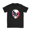NFL - Houston Texans Grateful Dead Steal Your Face Football NFL Shirts-T-shirt-Gildan Womens T-Shirt-Black-S-Itees Global