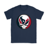 NFL - Houston Texans Grateful Dead Steal Your Face Football NFL Shirts-T-shirt-Gildan Womens T-Shirt-Navy-S-Itees Global