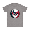 NFL - Houston Texans Grateful Dead Steal Your Face Football NFL Shirts-T-shirt-Gildan Womens T-Shirt-Sport Grey-S-Itees Global