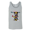 NFL - Houston Texans Mickey Mouse Is Wearing A Peace Necklace Disney NFL Football Shirt-T-shirt-Canvas Unisex Tank-Athletic Grey-S-Itees Global