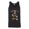 NFL - Houston Texans Mickey Mouse Is Wearing A Peace Necklace Disney NFL Football Shirt-T-shirt-Canvas Unisex Tank-Black-S-Itees Global