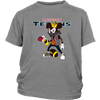 NFL - Houston Texans Mickey Mouse Is Wearing A Peace Necklace Disney NFL Football Shirt-T-shirt-District Youth Shirt-Sport Grey-XS-Itees Global