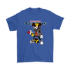 NFL - Houston Texans Mickey Mouse Is Wearing A Peace Necklace Disney NFL Football Shirt-T-shirt-Gildan Mens T-Shirt-Royal Blue-S-Itees Global