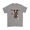 NFL - Houston Texans Mickey Mouse Is Wearing A Peace Necklace Disney NFL Football Shirt-T-shirt-Gildan Mens T-Shirt-Sport Grey-S-Itees Global