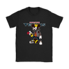 NFL - Houston Texans Mickey Mouse Is Wearing A Peace Necklace Disney NFL Football Shirt-T-shirt-Gildan Womens T-Shirt-Black-S-Itees Global