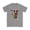 NFL - Houston Texans Mickey Mouse Is Wearing A Peace Necklace Disney NFL Football Shirt-T-shirt-Gildan Womens T-Shirt-Sport Grey-S-Itees Global