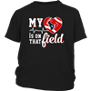 NFL - Houston Texans My Heart Is On That Field Shirts-T-shirt-District Youth Shirt-Black-XS-PopsSpot