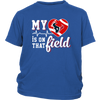 NFL - Houston Texans My Heart Is On That Field Shirts-T-shirt-District Youth Shirt-Royal Blue-XS-PopsSpot