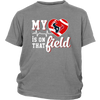 NFL - Houston Texans My Heart Is On That Field Shirts-T-shirt-District Youth Shirt-Sport Grey-XS-PopsSpot
