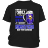 NFL - I Like To Party And By Party I Mean Drink Beer And Watch My Minnesota Vikings Beat Your Team's Ass International Beer Day NFL Football Shirt-T-shirt-District Youth Shirt-Black-XS-PopsSpot