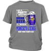 NFL - I Like To Party And By Party I Mean Drink Beer And Watch My Minnesota Vikings Beat Your Team's Ass International Beer Day NFL Football Shirt-T-shirt-District Youth Shirt-Sport Grey-XS-PopsSpot