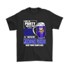 NFL - I Like To Party And By Party I Mean Drink Beer And Watch My Minnesota Vikings Beat Your Team's Ass International Beer Day NFL Football Shirt-T-shirt-Gildan Mens T-Shirt-Black-S-PopsSpot
