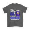 NFL - I Like To Party And By Party I Mean Drink Beer And Watch My Minnesota Vikings Beat Your Team's Ass International Beer Day NFL Football Shirt-T-shirt-Gildan Mens T-Shirt-Charcoal-S-PopsSpot