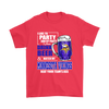 NFL - I Like To Party And By Party I Mean Drink Beer And Watch My Minnesota Vikings Beat Your Team's Ass International Beer Day NFL Football Shirt-T-shirt-Gildan Mens T-Shirt-Red-S-PopsSpot
