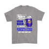 NFL - I Like To Party And By Party I Mean Drink Beer And Watch My Minnesota Vikings Beat Your Team's Ass International Beer Day NFL Football Shirt-T-shirt-Gildan Mens T-Shirt-Sport Grey-S-PopsSpot