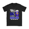 NFL - I Like To Party And By Party I Mean Drink Beer And Watch My Minnesota Vikings Beat Your Team's Ass International Beer Day NFL Football Shirt-T-shirt-Gildan Womens T-Shirt-Black-S-PopsSpot