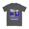 NFL - I Like To Party And By Party I Mean Drink Beer And Watch My Minnesota Vikings Beat Your Team's Ass International Beer Day NFL Football Shirt-T-shirt-Gildan Womens T-Shirt-Charcoal-S-PopsSpot