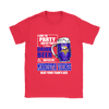 NFL - I Like To Party And By Party I Mean Drink Beer And Watch My Minnesota Vikings Beat Your Team's Ass International Beer Day NFL Football Shirt-T-shirt-Gildan Womens T-Shirt-Red-S-PopsSpot