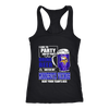 NFL - I Like To Party And By Party I Mean Drink Beer And Watch My Minnesota Vikings Beat Your Team's Ass International Beer Day NFL Football Shirt-T-shirt-Next Level Racerback Tank-Black-XS-PopsSpot