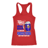NFL - I Like To Party And By Party I Mean Drink Beer And Watch My Minnesota Vikings Beat Your Team's Ass International Beer Day NFL Football Shirt-T-shirt-Next Level Racerback Tank-Red-XS-PopsSpot