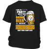 NFL – I Like To Party And By Party I Mean Drink Beer And Watch My Pittsburgh Steelers Beat Your Team's Ass International Beer Day NFL Football Shirt-T-shirt-District Youth Shirt-Black-XS-Itees Global