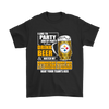 NFL – I Like To Party And By Party I Mean Drink Beer And Watch My Pittsburgh Steelers Beat Your Team's Ass International Beer Day NFL Football Shirt-T-shirt-Gildan Mens T-Shirt-Black-S-Itees Global