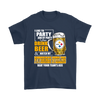 NFL – I Like To Party And By Party I Mean Drink Beer And Watch My Pittsburgh Steelers Beat Your Team's Ass International Beer Day NFL Football Shirt-T-shirt-Gildan Mens T-Shirt-Navy-S-Itees Global