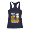 NFL – I Like To Party And By Party I Mean Drink Beer And Watch My Pittsburgh Steelers Beat Your Team's Ass International Beer Day NFL Football Shirt-T-shirt-Next Level Racerback Tank-Navy-XS-Itees Global