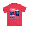 NFL – I Like To Party And By Party I Mean Drink Beer & Watch My Indianapolis Colts Beat Your Team's Ass International Beer Day NFL Football Shirt-T-shirt-Gildan Mens T-Shirt-Red-S-Itees Global