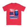NFL – I Like To Party And By Party I Mean Drink Beer & Watch My Indianapolis Colts Beat Your Team's Ass International Beer Day NFL Football Shirt-T-shirt-Gildan Womens T-Shirt-Red-S-Itees Global