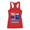 NFL – I Like To Party And By Party I Mean Drink Beer & Watch My Indianapolis Colts Beat Your Team's Ass International Beer Day NFL Football Shirt-T-shirt-Next Level Racerback Tank-Red-XS-Itees Global