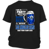 NFL – I Like To Party And By Party I Mean Drink Beer & Watch My Los Angeles Rams Beat Your Team's Ass International Beer Day NFL Football Shirt-T-shirt-District Youth Shirt-Black-XS-PopsSpot