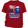NFL – I Like To Party And By Party I Mean Drink Beer & Watch My Los Angeles Rams Beat Your Team's Ass International Beer Day NFL Football Shirt-T-shirt-District Youth Shirt-Red-XS-PopsSpot
