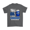 NFL – I Like To Party And By Party I Mean Drink Beer & Watch My Los Angeles Rams Beat Your Team's Ass International Beer Day NFL Football Shirt-T-shirt-Gildan Mens T-Shirt-Charcoal-S-PopsSpot