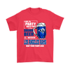 NFL – I Like To Party And By Party I Mean Drink Beer & Watch My Los Angeles Rams Beat Your Team's Ass International Beer Day NFL Football Shirt-T-shirt-Gildan Mens T-Shirt-Red-S-PopsSpot