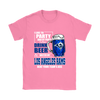 NFL – I Like To Party And By Party I Mean Drink Beer & Watch My Los Angeles Rams Beat Your Team's Ass International Beer Day NFL Football Shirt-T-shirt-Gildan Womens T-Shirt-Azalea-S-PopsSpot