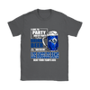 NFL – I Like To Party And By Party I Mean Drink Beer & Watch My Los Angeles Rams Beat Your Team's Ass International Beer Day NFL Football Shirt-T-shirt-Gildan Womens T-Shirt-Charcoal-S-PopsSpot