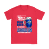 NFL – I Like To Party And By Party I Mean Drink Beer & Watch My Los Angeles Rams Beat Your Team's Ass International Beer Day NFL Football Shirt-T-shirt-Gildan Womens T-Shirt-Red-S-PopsSpot