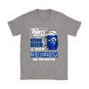 NFL – I Like To Party And By Party I Mean Drink Beer & Watch My Los Angeles Rams Beat Your Team's Ass International Beer Day NFL Football Shirt-T-shirt-Gildan Womens T-Shirt-Sport Grey-S-PopsSpot