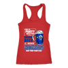 NFL – I Like To Party And By Party I Mean Drink Beer & Watch My Los Angeles Rams Beat Your Team's Ass International Beer Day NFL Football Shirt-T-shirt-Next Level Racerback Tank-Red-XS-PopsSpot
