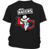 NFL - Kansas City Chiefs Hey Haters Mickey Mouse Shirts-T-shirt-District Youth Shirt-Black-XS-Itees Global