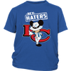 NFL - Kansas City Chiefs Hey Haters Mickey Mouse Shirts-T-shirt-District Youth Shirt-Royal Blue-XS-Itees Global